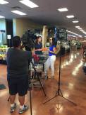 in store filming a nutrition segment