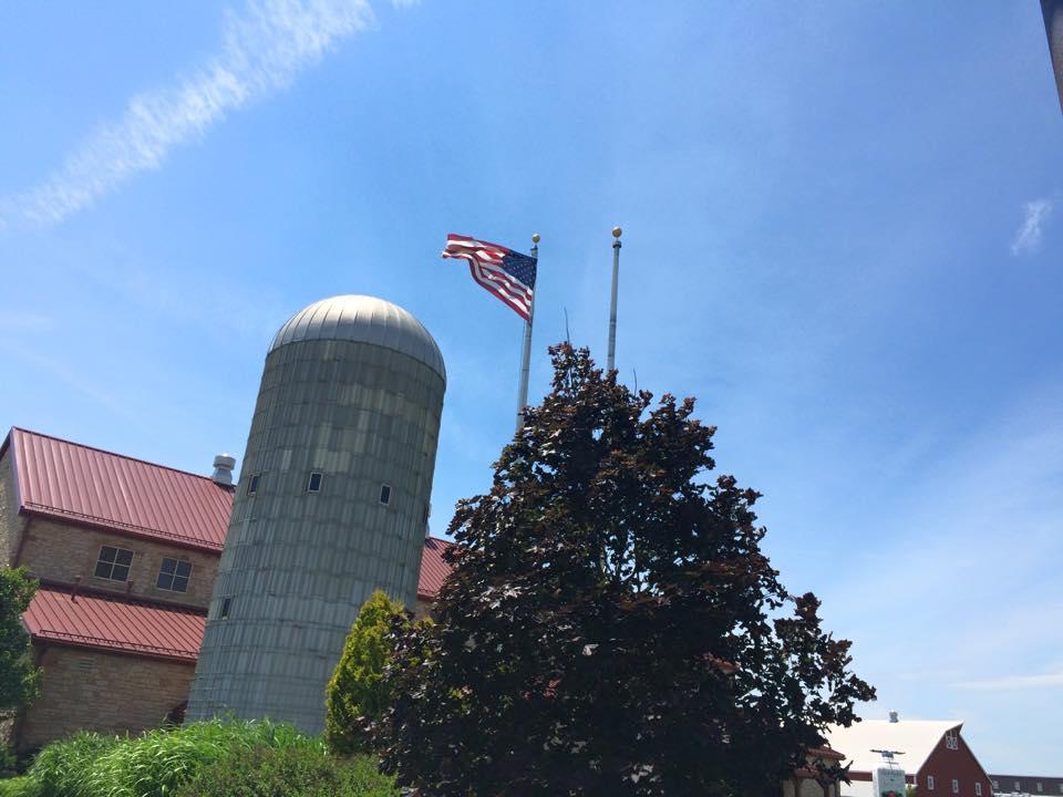 silo and flag