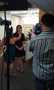 filming a nutrition segment