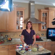 filming a recipe commercial