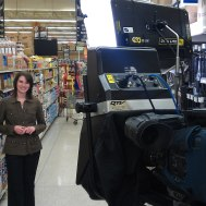 filming in grocery store