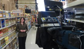 Filming in store
