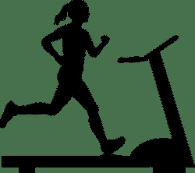 woman running treadmill