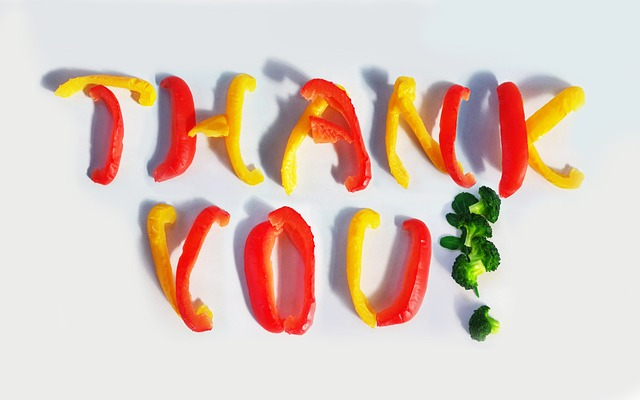 thank you vegetables