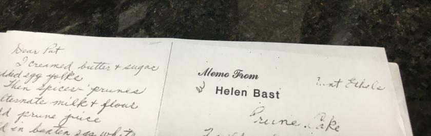 hand written recipe by grandma for cake