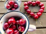 sweet red summer cherries