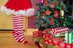 Christmas tree ornaments and presents