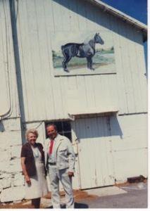 Wisconsin farm white barn