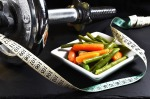 work out eat vegetables