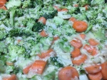 mix of veggies and rice