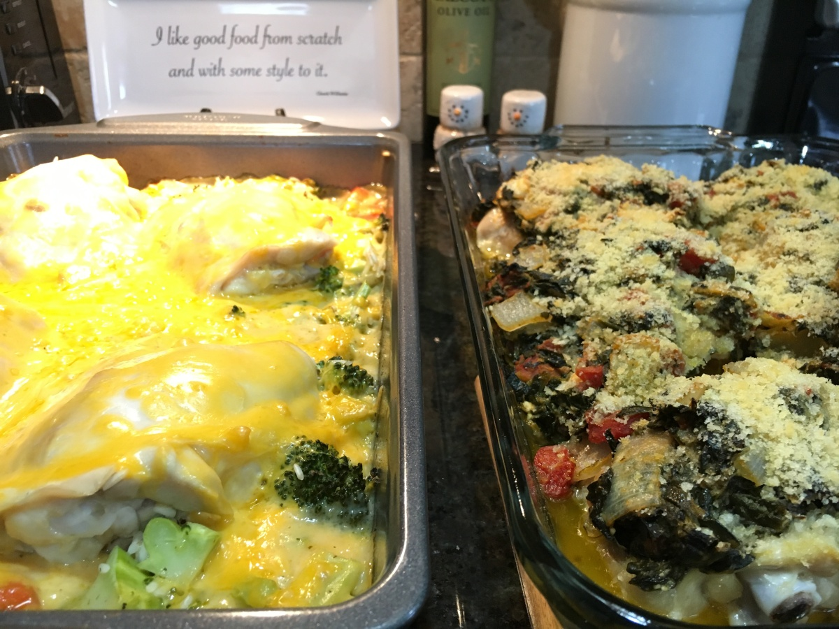 egg and chicken casseroles