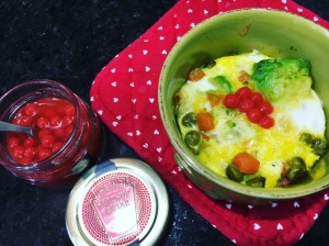 eggs with avocado and vegetables