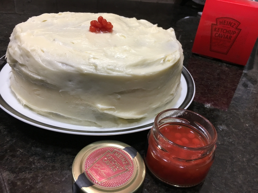 homemade cake with ketchup