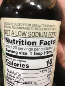 salt or sodium on a label
