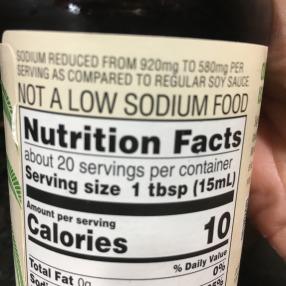 salt or sodium on a label