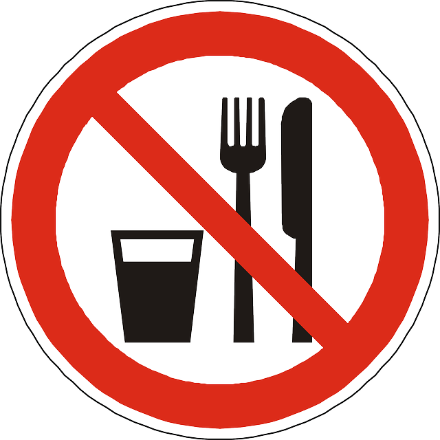 junk food not allowed