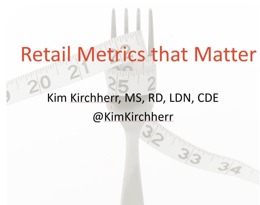 ROI for dietitians and supermarket retail grocery business