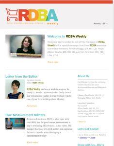 rdba metrics newsletter ROI