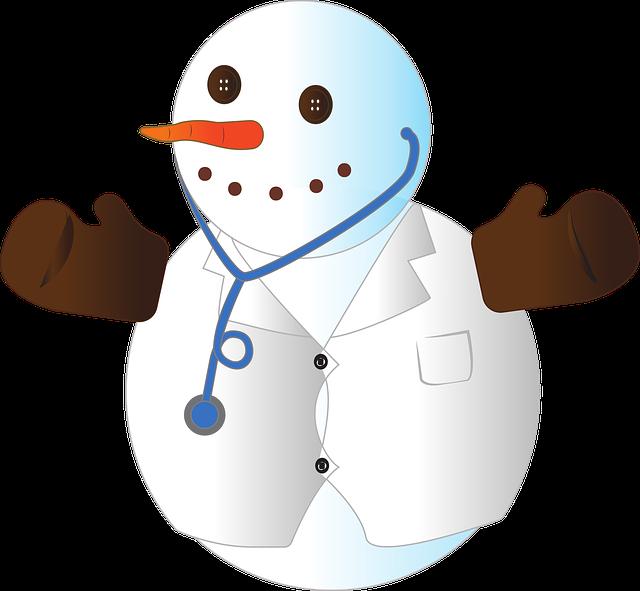 healthy snowman